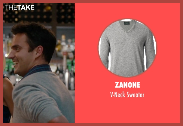 Zanone gray sweater from No Strings Attached seen with Jake Johnson (Eli)