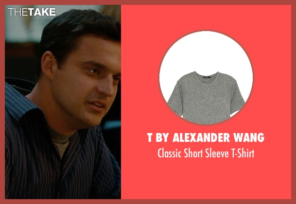 T by Alexander Wang gray t-shirt from No Strings Attached seen with Jake Johnson (Eli)
