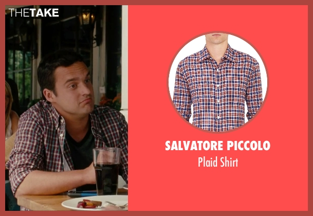 Salvatore Piccolo red shirt from No Strings Attached seen with Jake Johnson (Eli)