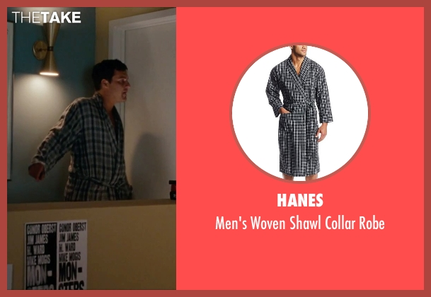 Hanes robe from No Strings Attached seen with Jake Johnson (Eli)