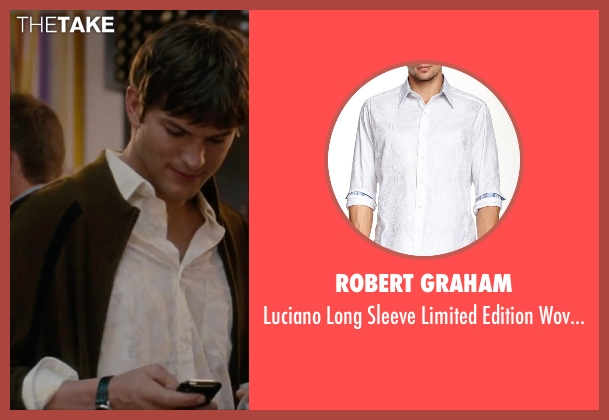 Robert Graham white shirt from No Strings Attached seen with Jake Johnson (Eli)