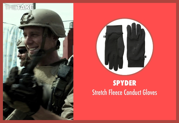 Spyder black gloves from American Sniper seen with Jake McDorman (Biggles)