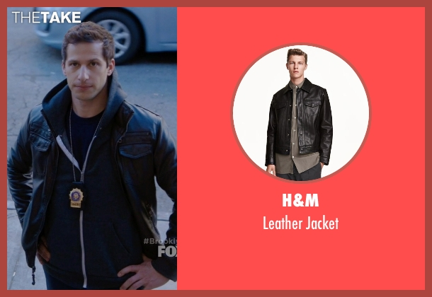 H&M black jacket from Brooklyn Nine-Nine seen with Jake Peralta (Andy Samberg)