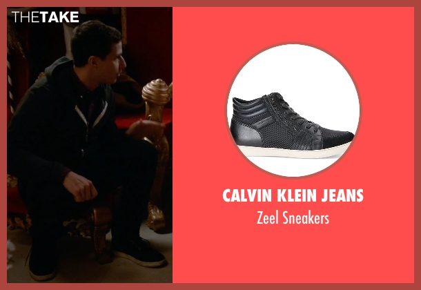 Calvin Klein Jeans black sneakers from Brooklyn Nine-Nine seen with Jake Peralta (Andy Samberg)