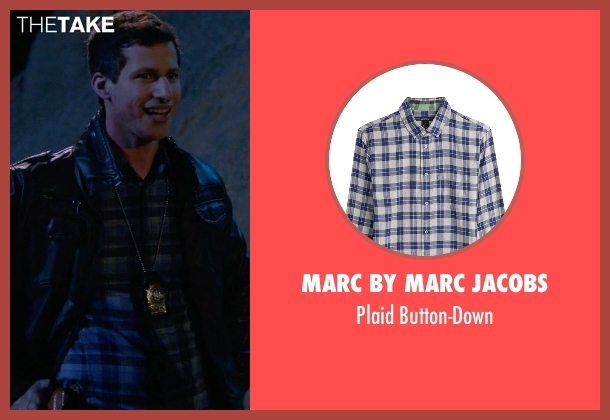 Marc By Marc Jacobs blue button-down from Brooklyn Nine-Nine seen with Jake Peralta (Andy Samberg)