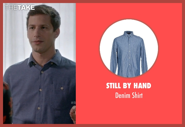 Still By Hand blue shirt from Brooklyn Nine-Nine seen with Jake Peralta (Andy Samberg)