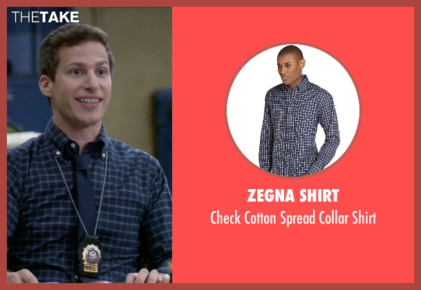 Zegna Shirt blue shirt from Brooklyn Nine-Nine seen with Jake Peralta (Andy Samberg)