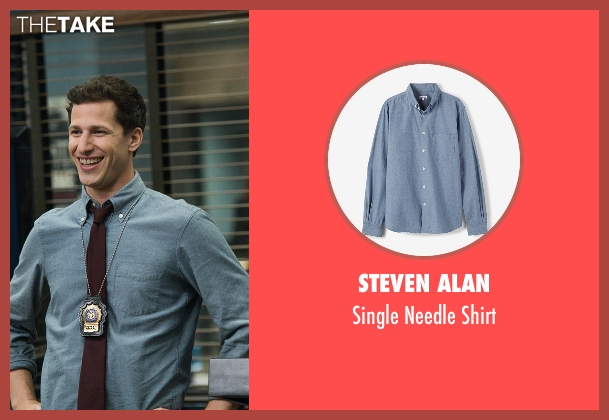Steven Alan blue shirt from Brooklyn Nine-Nine seen with Jake Peralta (Andy Samberg)