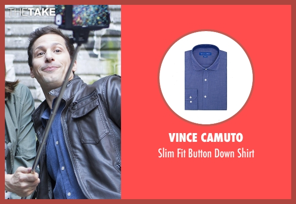 Vince Camuto blue shirt from Brooklyn Nine-Nine seen with Jake Peralta (Andy Samberg)
