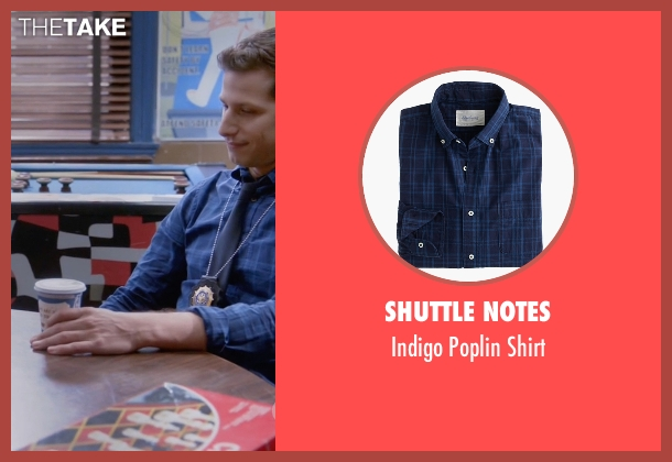 Shuttle Notes blue shirt from Brooklyn Nine-Nine seen with Jake Peralta (Andy Samberg)