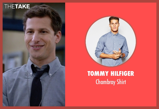 Tommy Hilfiger blue shirt from Brooklyn Nine-Nine seen with Jake Peralta (Andy Samberg)