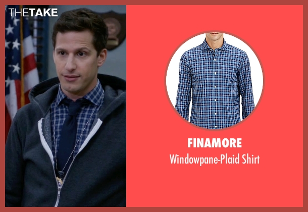 Finamore blue shirt from Brooklyn Nine-Nine seen with Jake Peralta (Andy Samberg)