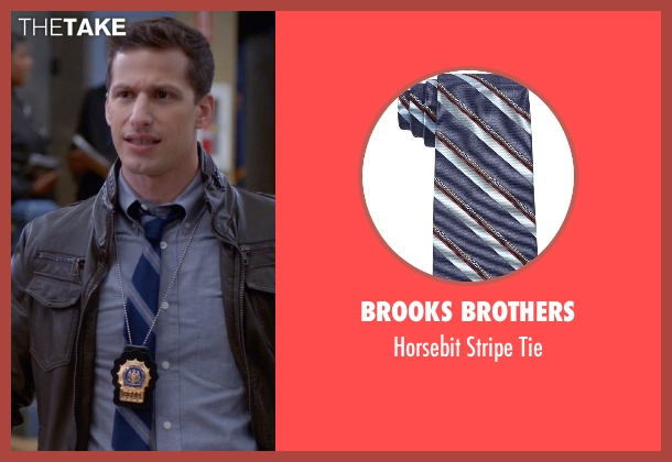 Brooks Brothers blue tie from Brooklyn Nine-Nine seen with Jake Peralta (Andy Samberg)