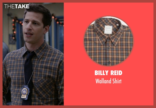 Billy Reid brown shirt from Brooklyn Nine-Nine seen with Jake Peralta (Andy Samberg)