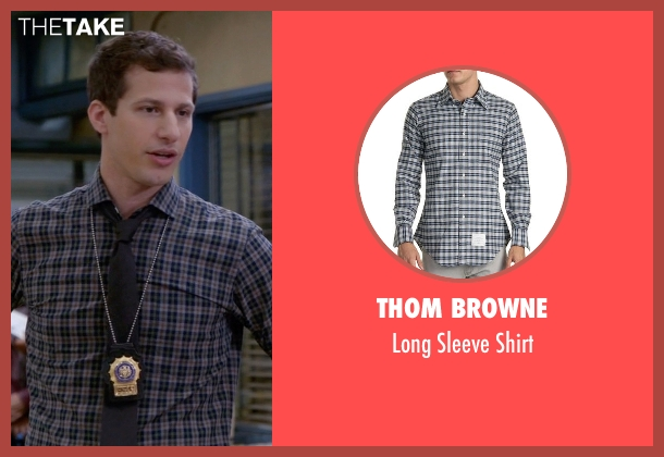 Thom Browne gray shirt from Brooklyn Nine-Nine seen with Jake Peralta (Andy Samberg)