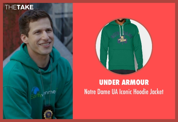 Under Armour green jacket from Brooklyn Nine-Nine seen with Jake Peralta (Andy Samberg)
