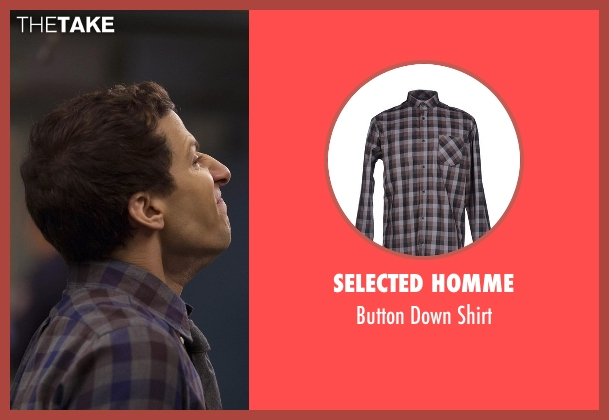 Selected Homme shirt from Brooklyn Nine-Nine seen with Jake Peralta (Andy Samberg)