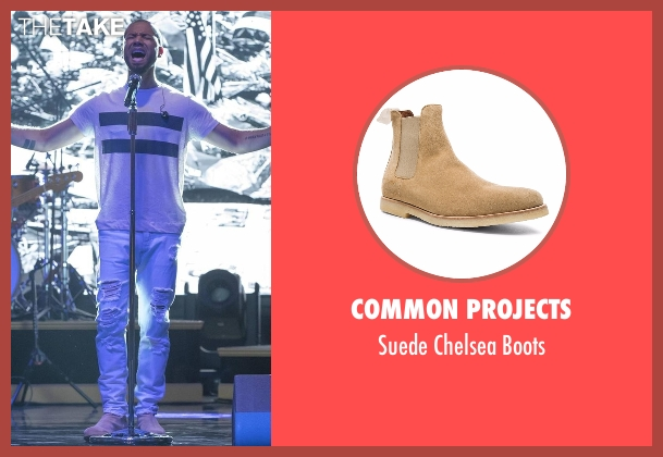 Common Projects beige boots from Empire seen with Jamal Lyon (Jussie Smollett)