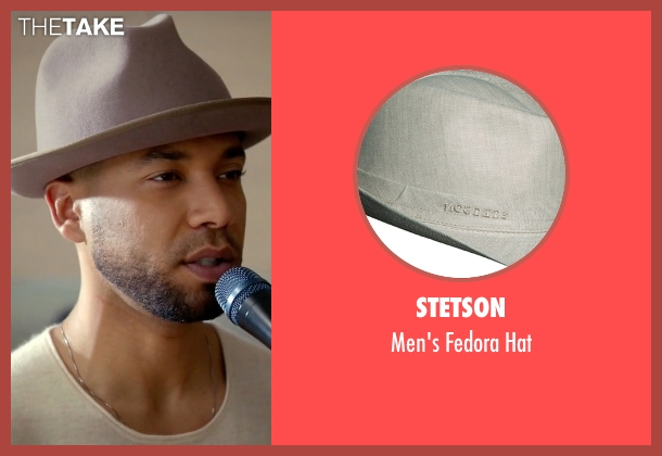 Stetson beige hat from Empire seen with Jamal Lyon (Jussie Smollett)
