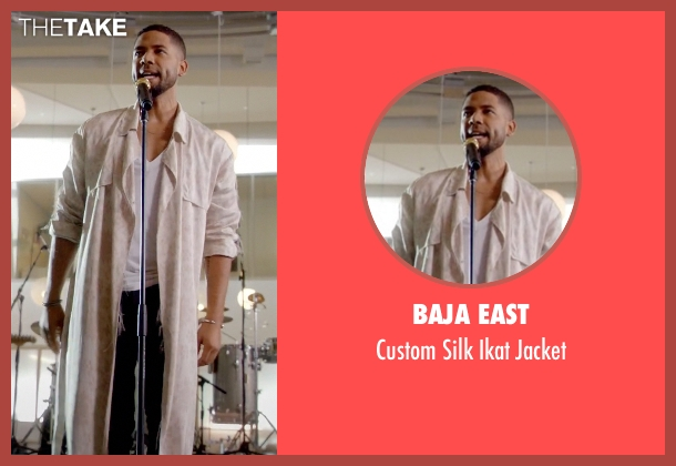 Baja East beige jacket from Empire seen with Jamal Lyon (Jussie Smollett)
