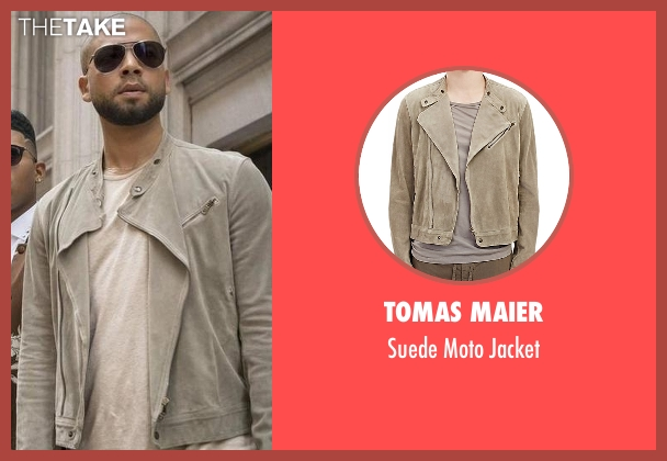 Tomas Maier beige jacket from Empire seen with Jamal Lyon (Jussie Smollett)
