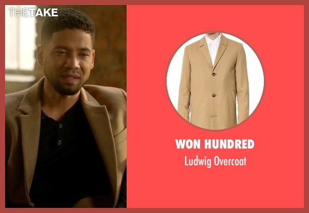 Won Hundred beige overcoat from Empire seen with Jamal Lyon (Jussie Smollett)