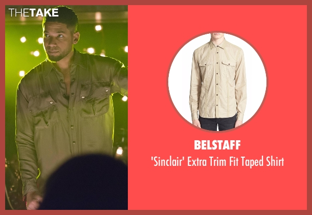 Belstaff beige shirt from Empire seen with Jamal Lyon (Jussie Smollett)