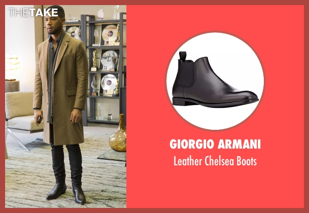 Giorgio Armani black boots from Empire seen with Jamal Lyon (Jussie Smollett)