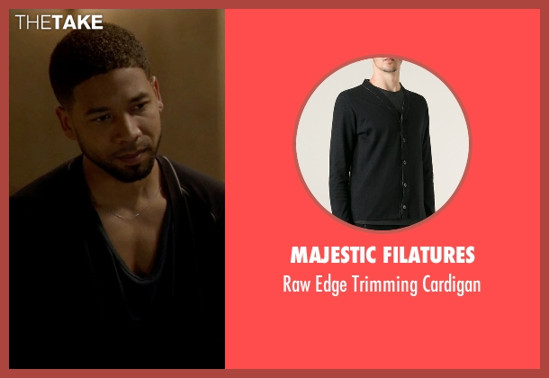 Majestic Filatures black cardigan from Empire seen with Jamal Lyon (Jussie Smollett)