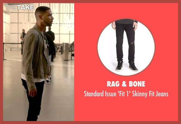 Rag & Bone black jeans from Empire seen with Jamal Lyon (Jussie Smollett)
