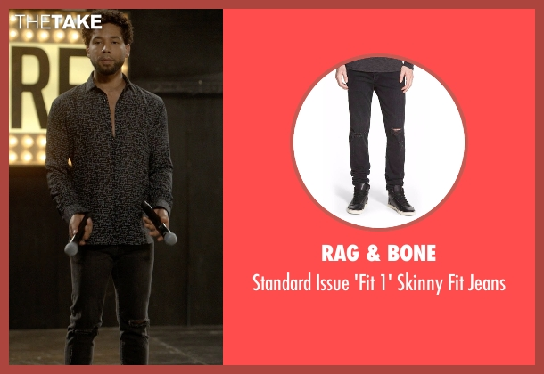 Rag & Bone black jeans from Empire seen with Jamal Lyon (Jussie Smollett)
