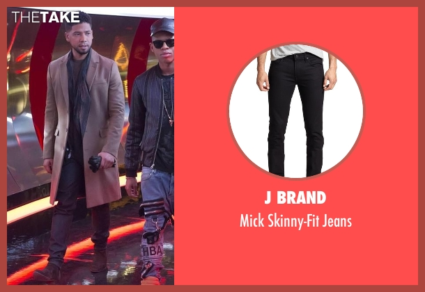 J Brand black jeans from Empire seen with Jamal Lyon (Jussie Smollett)