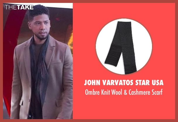 John Varvatos Star USA black scarf from Empire seen with Jamal Lyon (Jussie Smollett)
