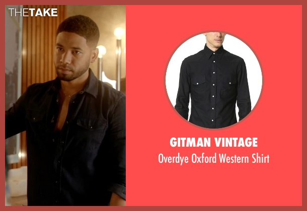 Gitman Vintage black shirt from Empire seen with Jamal Lyon (Jussie Smollett)