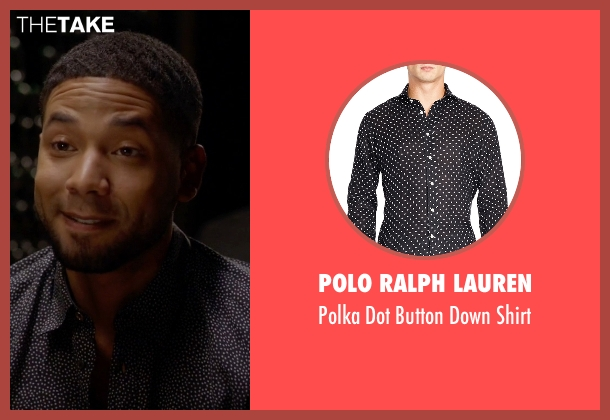 Polo Ralph Lauren black shirt from Empire seen with Jamal Lyon (Jussie Smollett)