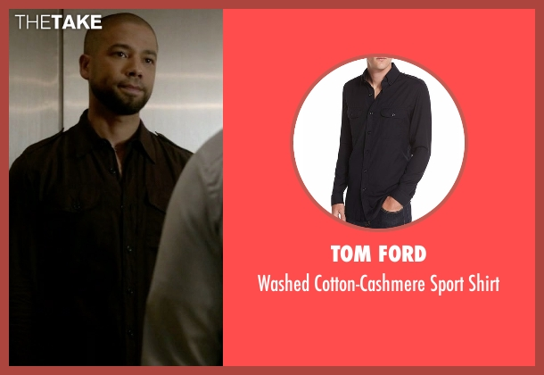 Tom Ford black shirt from Empire seen with Jamal Lyon (Jussie Smollett)