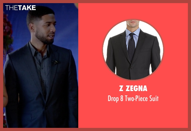 Z Zegna black suit from Empire seen with Jamal Lyon (Jussie Smollett)