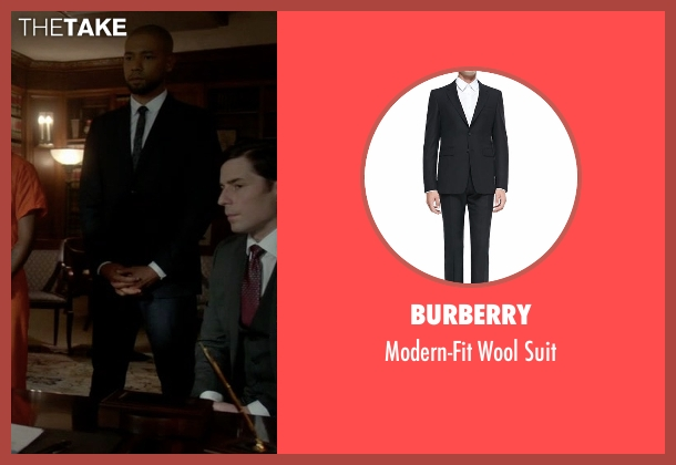 Burberry black suit from Empire seen with Jamal Lyon (Jussie Smollett)