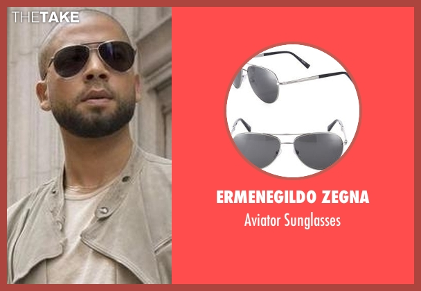 Ermenegildo Zegna black sunglasses from Empire seen with Jamal Lyon (Jussie Smollett)