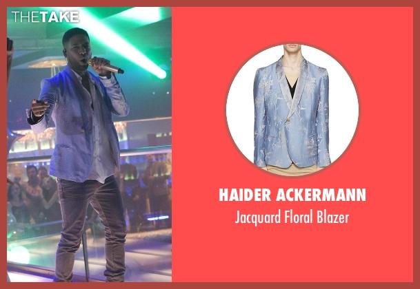 Haider Ackermann blue blazer from Empire seen with Jamal Lyon (Jussie Smollett)