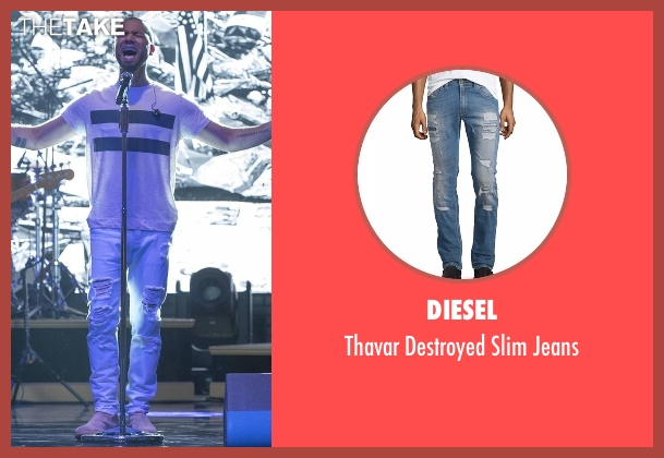 Diesel blue jeans from Empire seen with Jamal Lyon (Jussie Smollett)