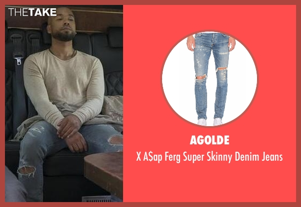 Agolde blue jeans from Empire seen with Jamal Lyon (Jussie Smollett)