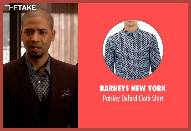 Barneys New York blue shirt from Empire seen with Jamal Lyon (Jussie Smollett)