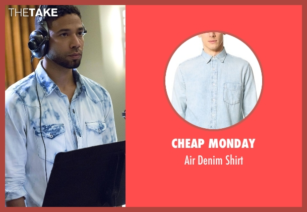 Cheap Monday blue shirt from Empire seen with Jamal Lyon (Jussie Smollett)