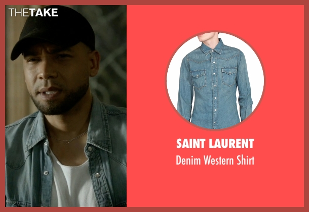 Saint Laurent blue shirt from Empire seen with Jamal Lyon (Jussie Smollett)