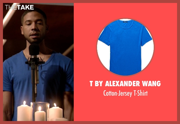 T By Alexander Wang blue t-shirt from Empire seen with Jamal Lyon (Jussie Smollett)