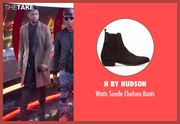 H By Hudson brown boots from Empire seen with Jamal Lyon (Jussie Smollett)