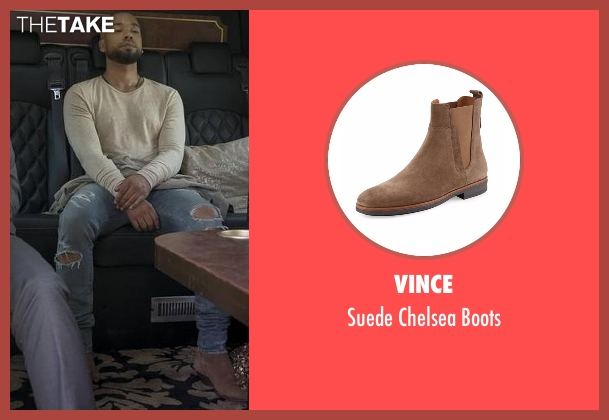 Vince brown boots from Empire seen with Jamal Lyon (Jussie Smollett)