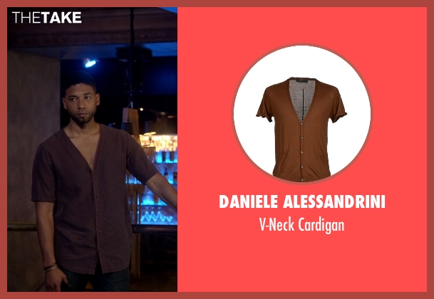 Daniele Alessandrini cardigan from Empire seen with Jamal Lyon (Jussie Smollett)