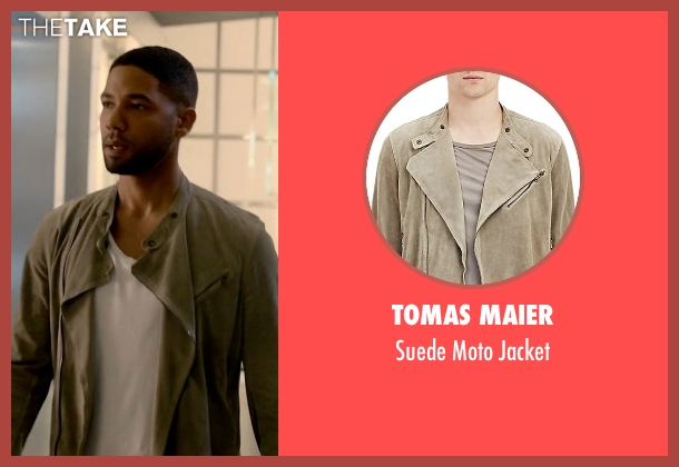 Tomas Maier gray jacket from Empire seen with Jamal Lyon (Jussie Smollett)